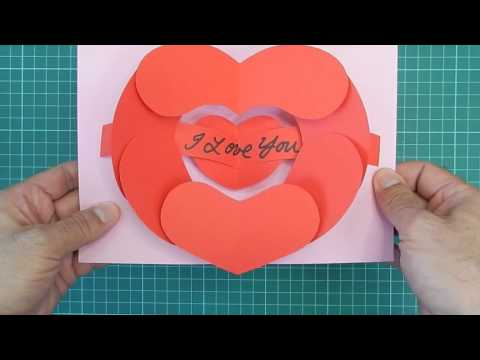 Open Your Heart Pop Up Card - Tutorial