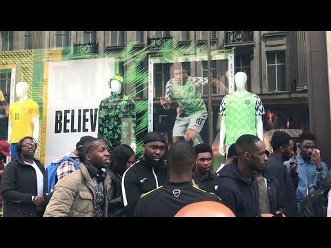 Fans Queue For Nigeria World Cup Kit On Oxford Street
