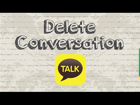 How to delete conversation / chat on Kakaotalk