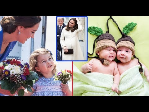 The twins will visit on Charlotte Princess's birthday, Kate Middleton begins maternity leave