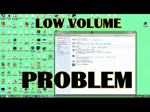 Low sound volume problem for PC computer