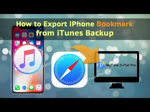 How to Export iPhone Bookmark from iTunes Backup