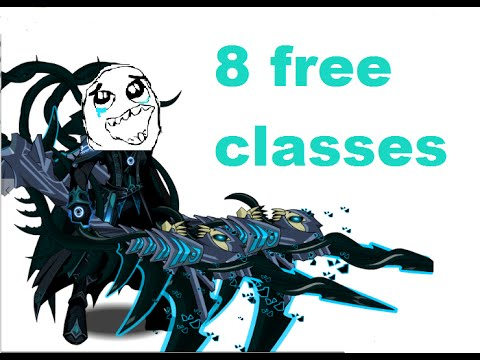 AQW how to get 8 free classes tutorial for beginners