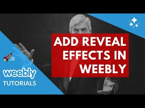 How to add reveal effects to your Weebly website | Weebly Tutorials