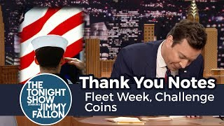 Thank You Notes: Fleet Week, Challenge Coins