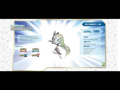 FREE Pokemon Meloetta (ORAS, XY)