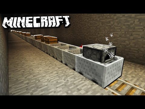 Making the Longest MINECART TRAIN in Minecraft!