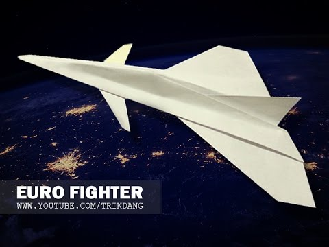 PAPER JET FIGHTER - How to make a paper airplane that FLIES | Eurofighter