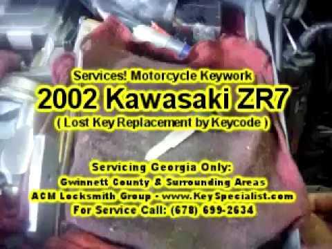 Locksmith Duluth GA: 2002 Kawasaki ZR7 - Lost Key Replacement by Keycode!