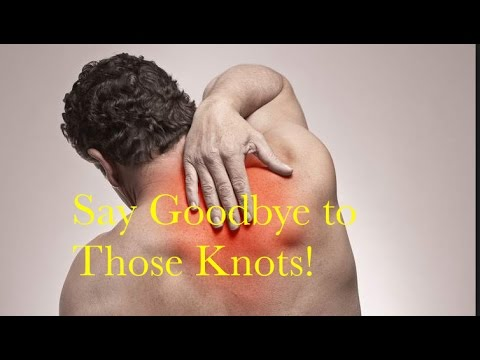 How to get rid of knots in your upper back. Incredibly effective trick!
