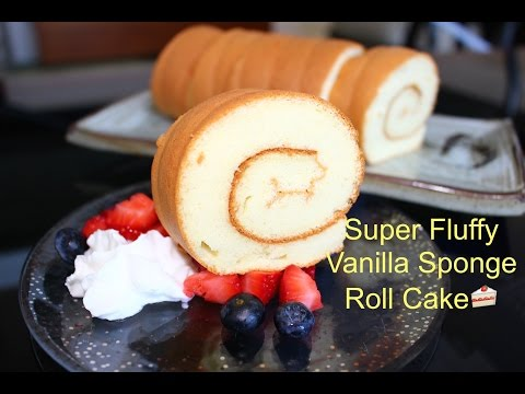 How to Make Super Soft Vanilla Sponge Roll Cake | 超軟蛋糕卷(燙麵法)