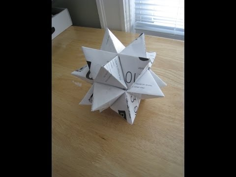 Folding an Equilateral Triangle, Tetrahedron & Stellated Icosahedron