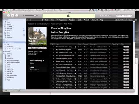 How to get the iTunes URL for a podcast