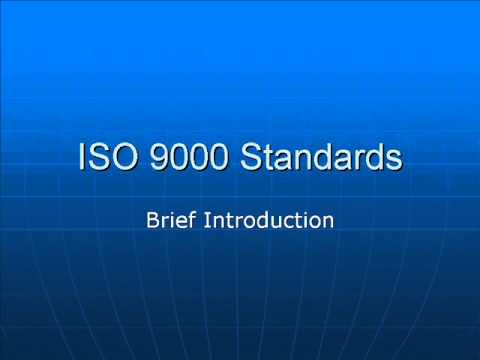 Brief Introduction To ISO 9000 Standards