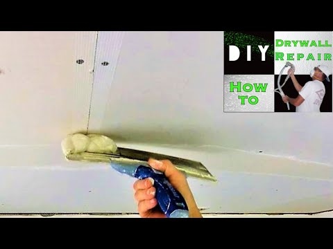 How to mud drywall butt joint when using fiberglass mesh tape diy