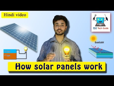 How solar panel work in hindi