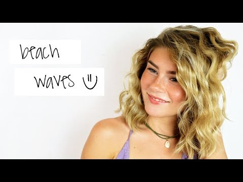 Beach Waves Hair Tutorial for Short Hair