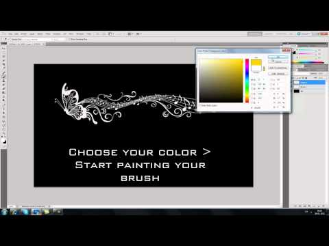 How to color your brushes in Photoshop cs5