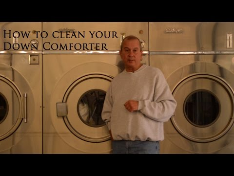 How to launder or clean a Down Comforter www.verolinens.com
