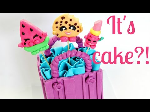Shopkins Cake ~ Edible Melonie Pips, Kooky Cookie & Lippy Lips - CAKE STYLE