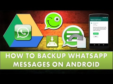 How to take backup of WhatsApp messages on android?