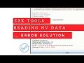 Reading NV data ...error (1 138) z3x tools 27.7   Solution   MrSolution