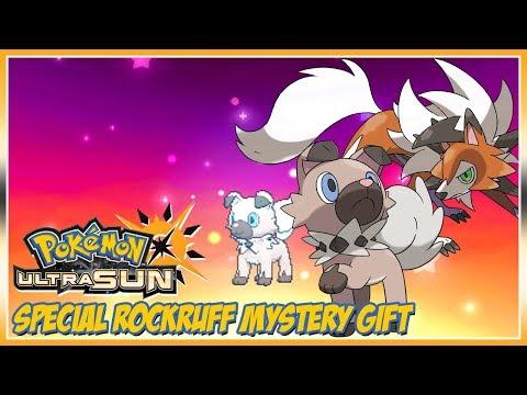Pokémon Ultra Sun & Ultra Moon Rockruff Mystery Gift