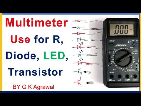 How to use a multimeter to test diode, LED, hfe, Vbe