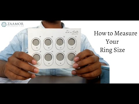 how to measure your ring size @ home