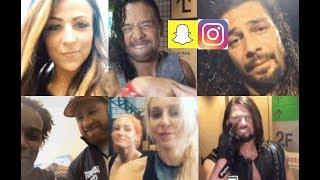 WWE Snapchat/IG ft. Roman Reigns, Xavier Woods, Sami Zayn, Emma, AJ Styles, Apollo Crews n MORE