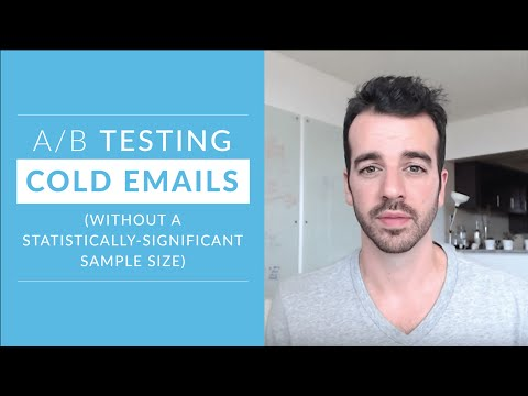 A/B testing cold emails (without a statistically-significant sample size)