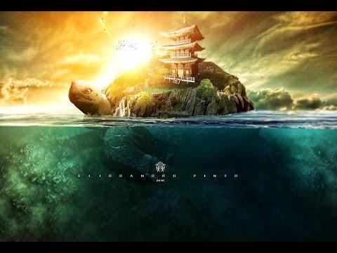 Tutorial Photoshop  Underwater   surreal Turtle at sea