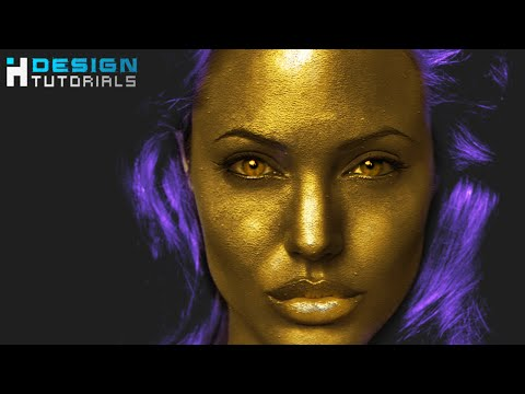 turn skin into gold in Adobe Photoshop