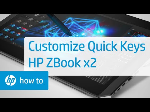 How To Customize Quick Keys on the HP ZBook x2
