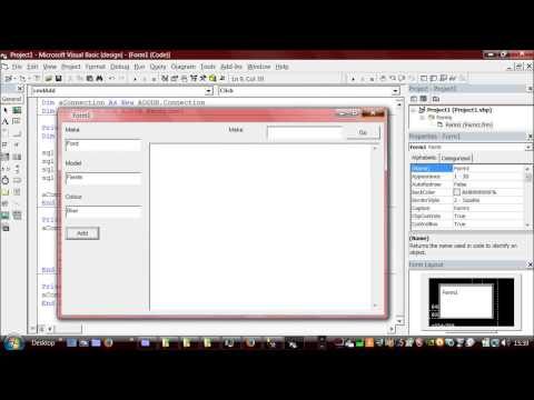 How to Use SQL Server with VB6 (inc. select & insert)