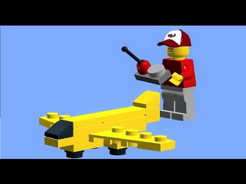 LEGO PLANE TUTORIAL - how to build a LEGO mini plane