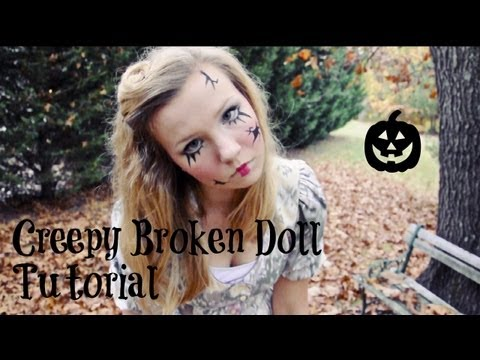 Creepy Broken Doll: Hair, Makeup, and Costume Tutorial!