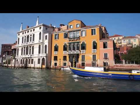 Venice Vaporetto #2 Water Taxi Ride Piazzale Roma to St Marks Square on Grand Canal (HD)