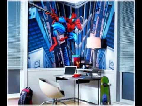 Boys room wallpaper design ideas