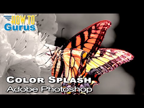 Photoshop Color Splash Effect : Black and White Photo with Color in CC 2018 CS6 CS5 Tutorial