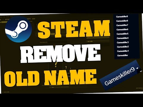 How to remove old Steam names (Aliases | 2018)