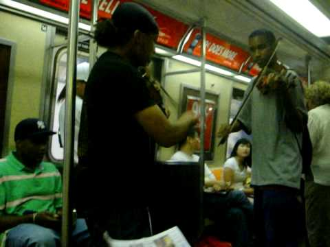Violins in the Subway