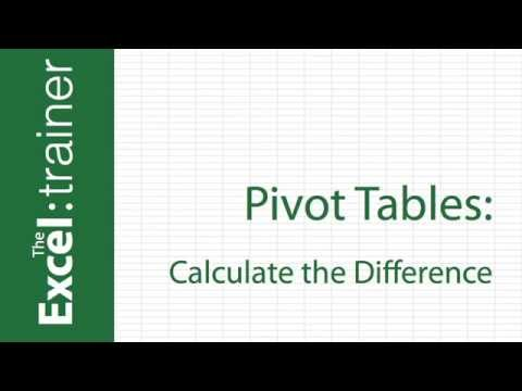 Excel  - Calculate Differences in a Pivot Table