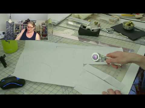 J Stern Designs Live Stream:  How to Rotate the Bust Dart on the Anna Dress