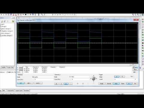 Positive and Negative Clamper Circuit Simulation (Multisim)