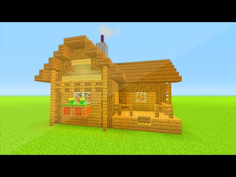 MINECRAFT: How to build wooden survival  house | Best house tutorial | PS3/PS4/XBOX360/MCPE/PC