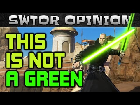 What is WRONG with the SWTOR Green Color Crystal and how to fix it