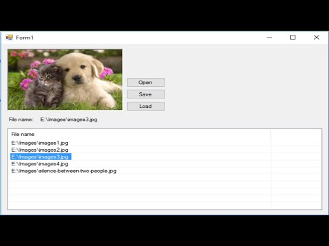 C# Tutorial - How to Save and Retrieve Image from Database | FoxLearn