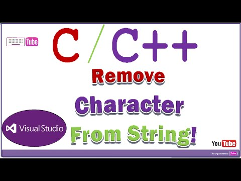 How to remove a character (char) from a string in C/C++
