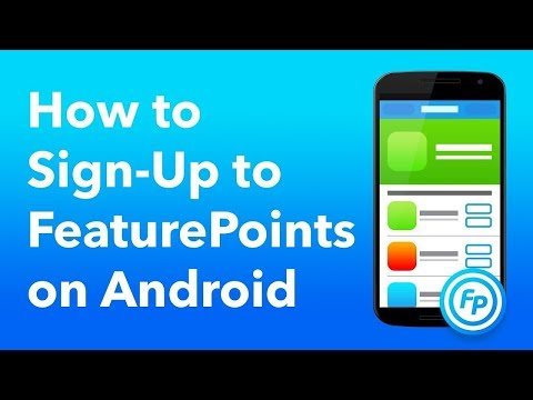 How to signup to FeaturePoints on Android